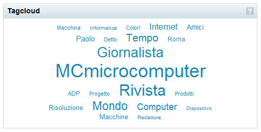 Tag cloud relativo ad Andrea de Prisco